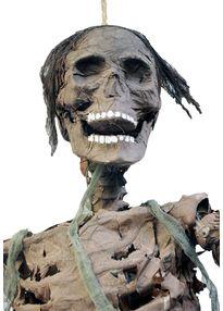 Бутафорский скелет зомби с огнями 180 см.