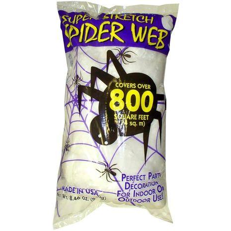 Белая бутафорская паутина 70м2