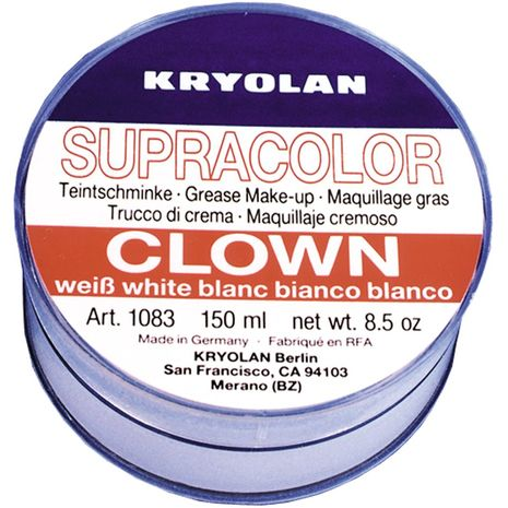 Белый грим клоуна Kryolan 255 мл.