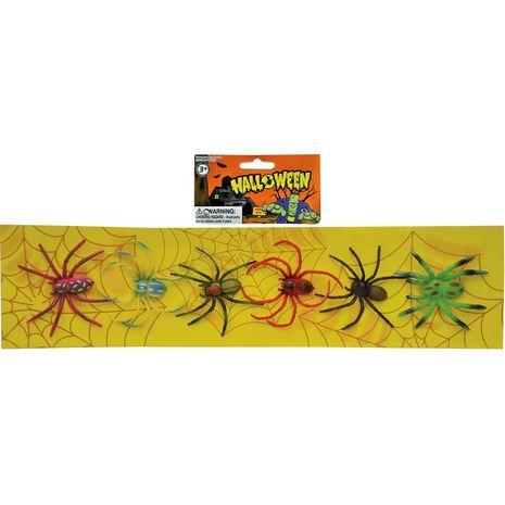 Бутафорские пауки 6 шт