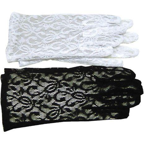 Черные кружевные перчатки