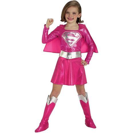 Карнавальное розовое платье супердевушки