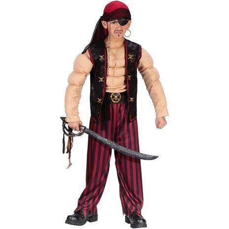 Карнавальный костюм мускулистого пирата
