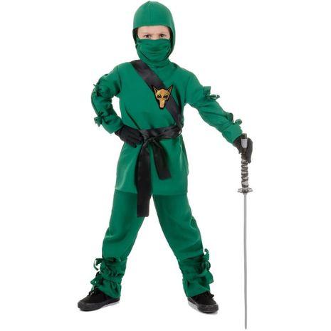 Карнавальный костюм ниндзя зелёный
