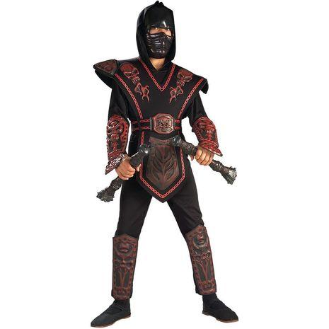 Костюм Красного воина ниндзя с черепом