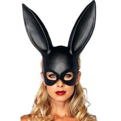 Маска кролика чёрная