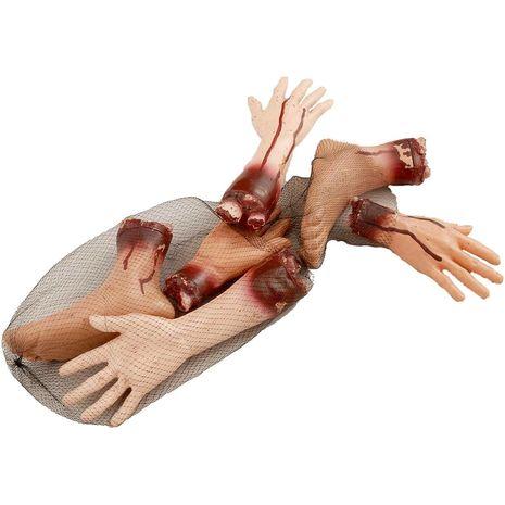 Набор бутафорских конечностей человека