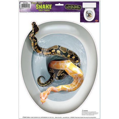 Наклейка на туалет Змеи