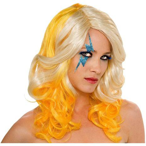 Парик Леди Гага двухцветный