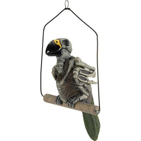 Скелет попугая на жердочке