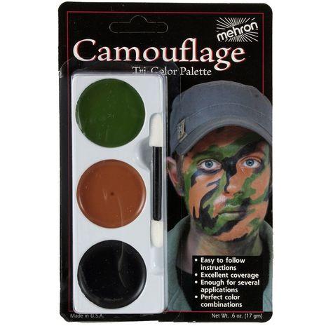 Трехцветная палитра Камуфляж