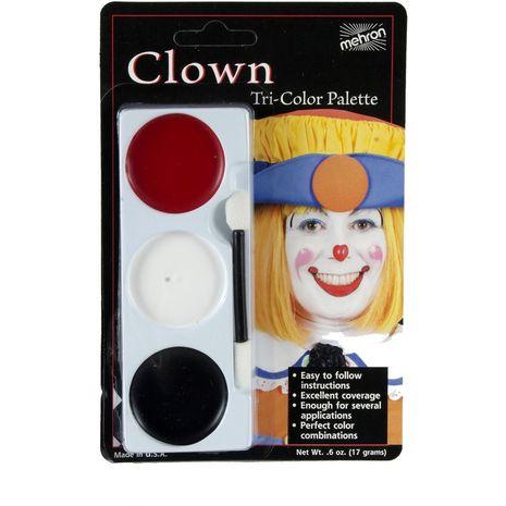 Трехцветная палитра Клоун