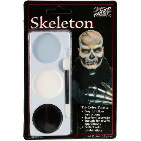 Трехцветная палитра Скелет