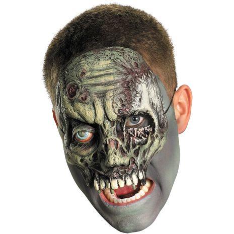 Виниловая маска зомби на лицо