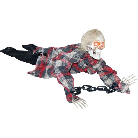 Анимированный скелет в цепях