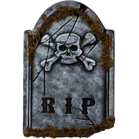 Декорация на Хэллоуин Надгробие с черепом