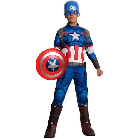 Детский делюкс костюм капитана Америка