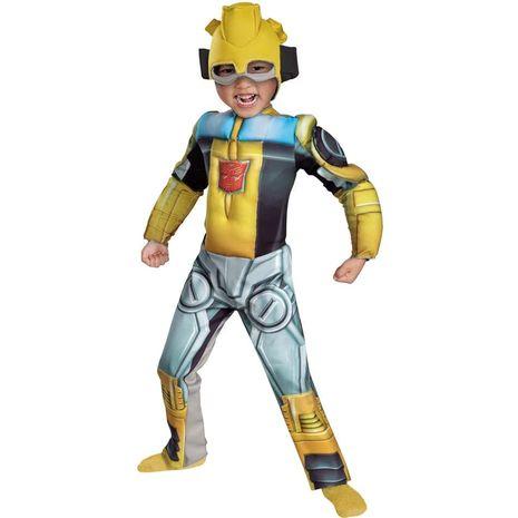 Карнавальный костюм Бамблби  Трансформеры  с мускулами