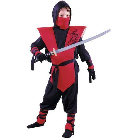 Карнавальный костюм ниндзя красный