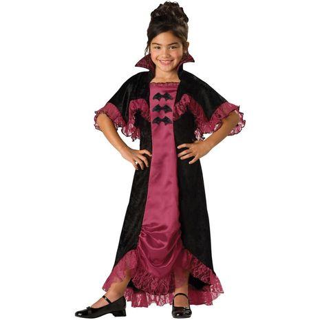 Карнавальный костюм полуночной девочки вампира