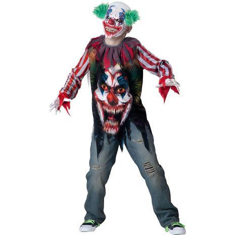 Карнавальный костюм страшного клоуна