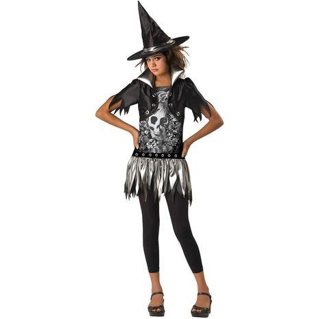 Карнавальный костюм ведьмы в готическом стиле