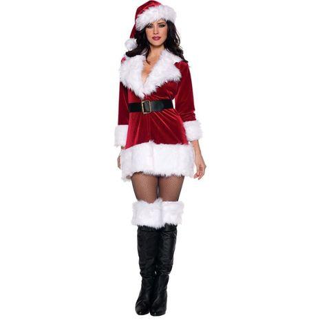 Карнавальный женский костюм Санта Клауса