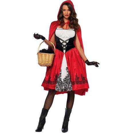 Классический костюм Красной шапочки для взрослых