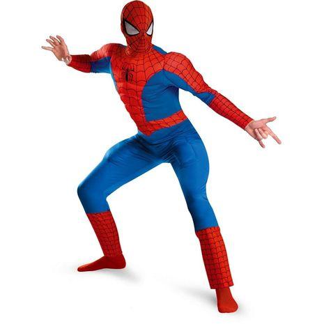 Костюм человек-паук с мускулами люкс