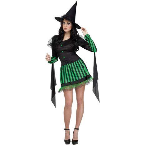 Костюм злой ведьмы в зеленом